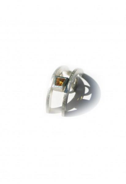 Saphiranhänger Trapez gelb - Silberanhänger mit gelbem Saphir