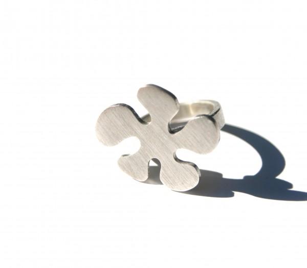 Klecksring - Silberring in Klecksform