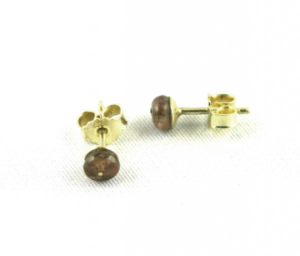 Andalusitstecker - Goldohrschmuck mit Andalusitpy-Copy
