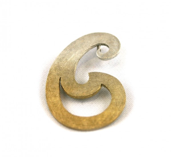 Schnörkelanhänger - geschlungener Anhänger mit Vergoldungphir-Copy