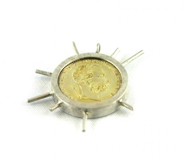 Münzanhänger - Silberanhänger mit Goldmünze