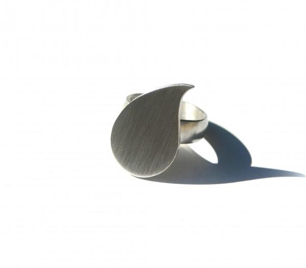 Tropfenring - Silberring mit großem Tropfen