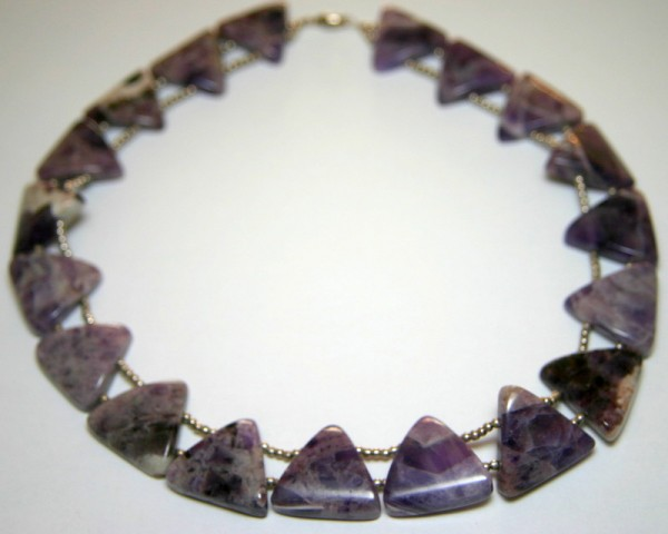 Amethystcollier Cleopatra - eng anliegendes Amethystcollier