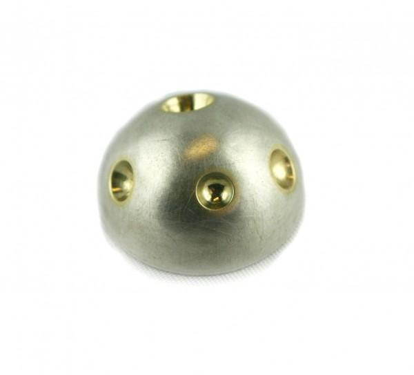 Planetenanhänger - Silberhalbkugel mit Goldschälchen